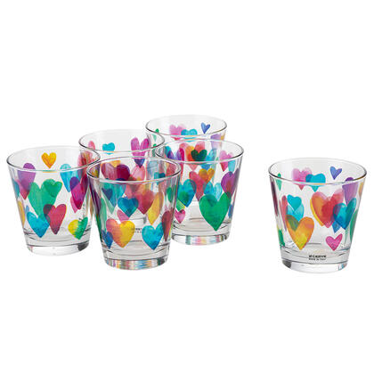Zestaw szklanek LOVE RAINBOW 250 ml 6 szt.