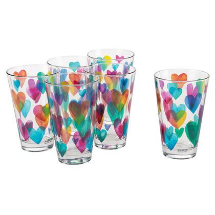 Zestaw szklanek LOVE RAINBOW 310 ml 6 szt.