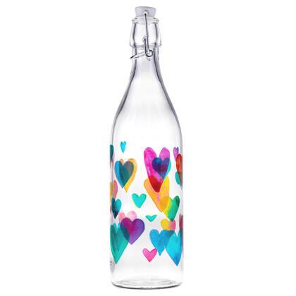 Butelka na zamknięcie patentowe LOVE RAINBOW 1 l