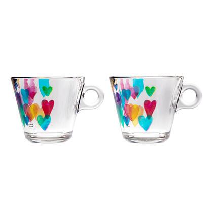 Zestaw filiżanek do kawy LOVE RAINBOW 280 ml 2 szt.