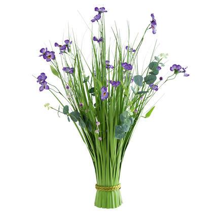 Ozdobna trawa z fioletowymi kwiatami 70 cm