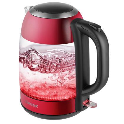 Szklany czajnik elektryczny RED