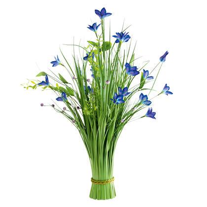 Ozdobna trawa z niebieskimi kwiatami 70 cm