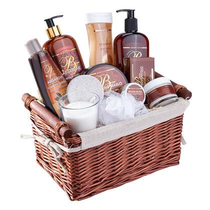 Zestaw kosmetyków z olejkiem arganowym w koszu upominkowym