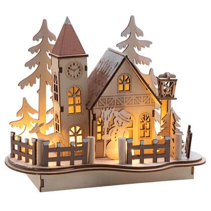 Zimowa wioska z LED