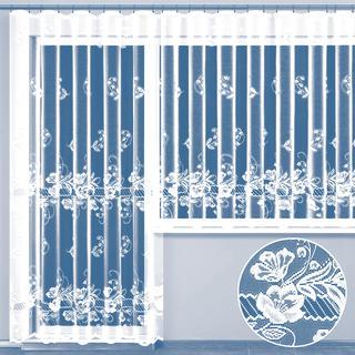 Gotowa firana żakardowa SAMANTHA - komplet na balkon