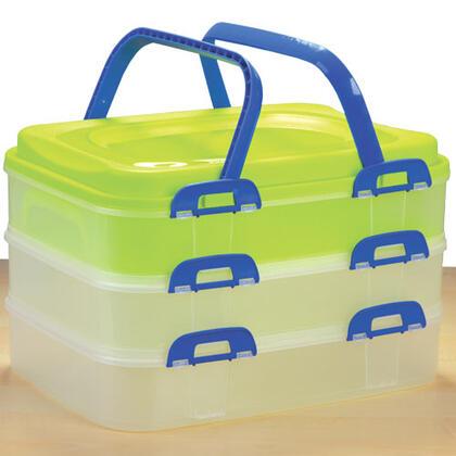 Plastikowy pojemnik do przenoszenia potraw 3 piętra