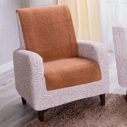 Narzuta na fotel z mikrowłókna orzeszkowa