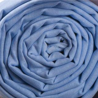 Prześcieradło bawełniane o splocie płóciennym 140 x 230 cm niebieskie
