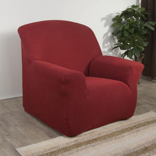 Elastyczne pokrowce Carla bordo, fotel (sz. 70 - 110 cm)