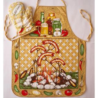 Fartuch kuchenny z rękawicą - serdelki