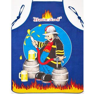 Fartuch kuchenny - strażak niebieski