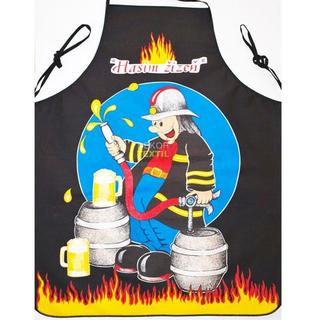 Fartuch kuchenny - strażak czarny