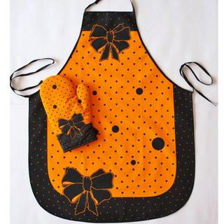 Fartuch kuchenny z rękawicą pomarańczowy
