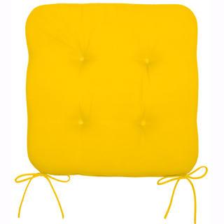 Poduszka na krzesło żółta