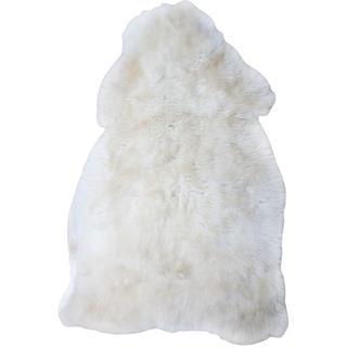 Dywanik z owczej skóry biały