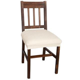 Elastyczne pokrowce CARLA śmietankowe, krzesła - siedzisko 2 szt. 40 x 40 cm