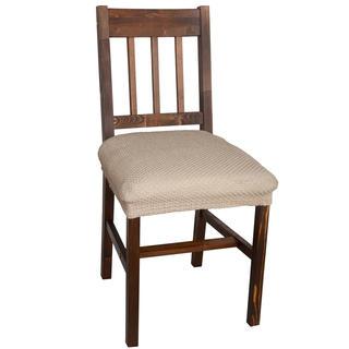 Elastyczne pokrowce CARLA orzeszkowe, krzesła - siedzisko 2 szt. 40 x 40 cm