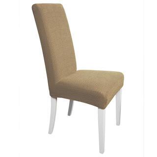 Elastyczne pokrowce CARLA orzeszkowe, krzesła z oparciem 2 szt. 40 x 40 x 60 cm