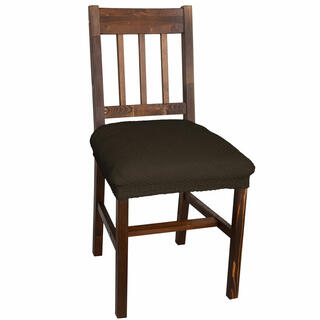 Elastyczne pokrowce CARLA brąz, krzesła - siedzisko 2 szt. 40 x 40 cm