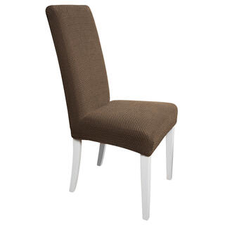 Elastyczne pokrowce Carla brąz, krzesła z oparciem 2 szt. 40 x 40 x 60 cm