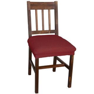 Elastyczne pokrowce Carla bordo krzesła - siedzisko 2 szt. 40 x 40 cm
