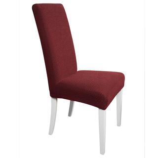 Elastyczne pokrowce Carla bordo krzesła z oparciem 2 szt. 40 x 40 x 60 cm