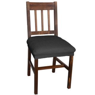 Elastyczne pokrowce Carla szare krzesła - siedzisko 2 szt. 40 x 40 cm