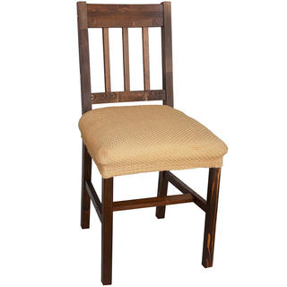Elastyczne pokrowce CARLA złote, krzesła - siedzisko 2 szt. 40 x 40 cm