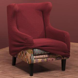 Elastyczne pokrowce CARLA bordo, fotel uszak (sz. 60 - 100 cm)
