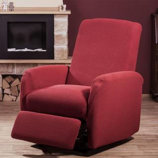 Elastyczne pokrowce Carla bordo fotel relaks (sz. 80 - 110 cm)