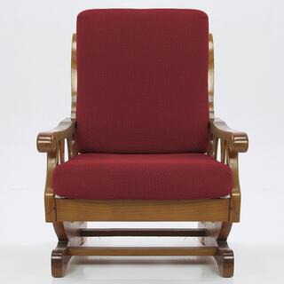 Elastyczne pokrowce CARLA bordo, fotel z drewnianymi bokami (sz. 60 - 80 cm)