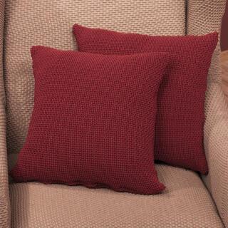 Elastyczne pokrowce CARLA bordo, poszewki na poduszkę 2 szt. (40 x 40 cm)
