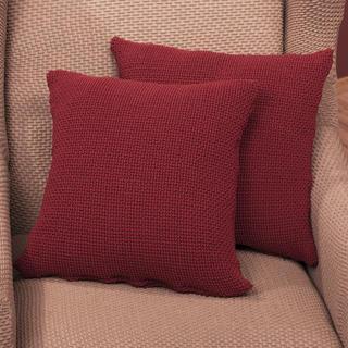 Elastyczne pokrowce Carla bordo poszewki na poduszkę 2 szt. (40 x 40 cm)