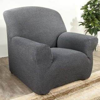 Elastyczne pokrowce Carla szare fotel (sz. 70 - 110 cm)