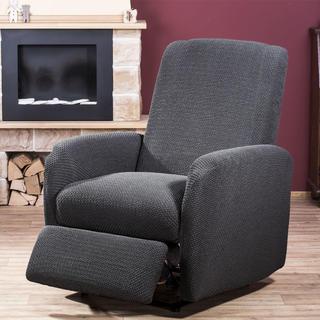 Elastyczne pokrowce Carla szare fotel relaks (sz. 80 - 110 cm)