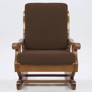 Elastyczne pokrowce Carla brąz fotel z drewnianymi bokami (sz. 60 - 80 cm)