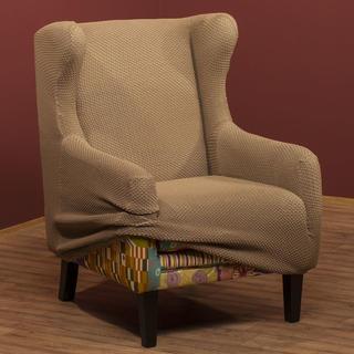 Elastyczne pokrowce Carla orzeszkowe, fotel uszak (sz. 60 - 100 cm)