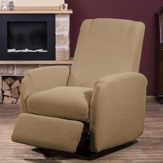 Elastyczne pokrowce CARLA orzeszkowe, fotel relaks (sz. 70 - 90 cm)