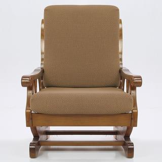 Elastyczne pokrowce CARLA orzeszkowe, fotel z drewnianymi bokami (sz. 60 - 80 cm)