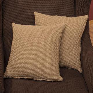 Elastyczne pokrowce CARLA orzeszkowe, poszewki na poduszkę 2 szt. (40 x 40 cm)