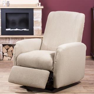 Elastyczne pokrowce CARLA śmietankowe, fotel relaks (sz. 70 - 90 cm)