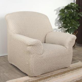 Elastyczne pokrowce Rebeca śmietankowe fotel (sz. 70 - 110 cm)