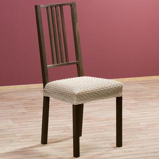 Elastyczne pokrowce Rebeca orzeszkowe krzesła - siedzisko 2 szt. 40 x 40 cm