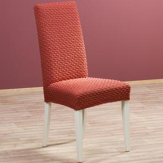 Elastyczne pokrowce Rebeca cegła krzesła z oparciem 2 szt. 40 x 40 x 60 cm