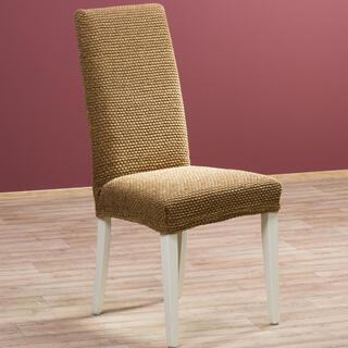 Luksusowe elastyczne pokrowce Zafiro brąz tytoniowy krzesła z oparciem 2 szt. 40 x 40 x 60 cm