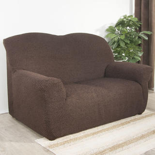 Luksusowe elastyczne pokrowce ZAFIRO czekoladowy brąz kanapa trzyosobowa (sz. 180 - 220 cm)