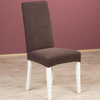 Luksusowe elastyczne pokrowce ZAFIRO czekoladowy brąz krzesła z oparciem 2 szt. 40 x 40 x 60 cm