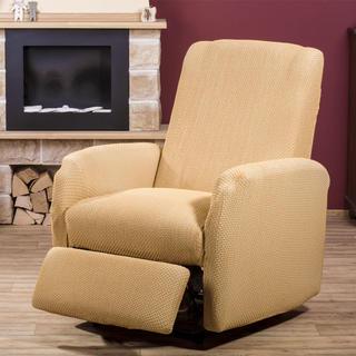 Elastyczne pokrowce CARLA złote, fotel relaks (sz. 70 - 90 cm)