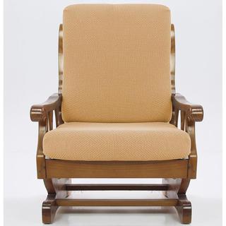 Elastyczne pokrowce CARLA złote, fotel z drewnianymi bokami (sz. 60 - 80 cm)